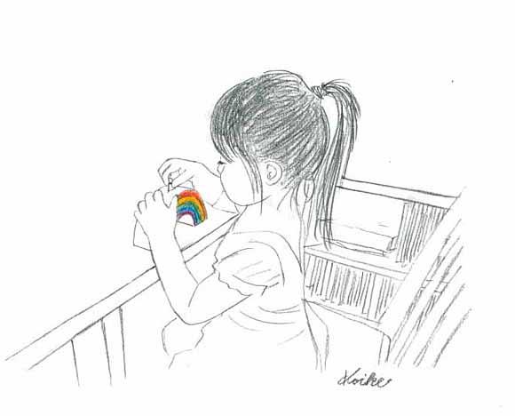 虹の貯金箱