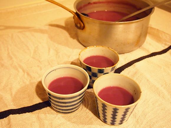 紫のスープ
