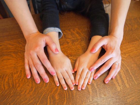 バカンス色の爪