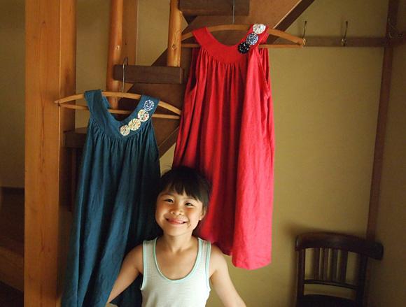 ローズピンクのドレス
