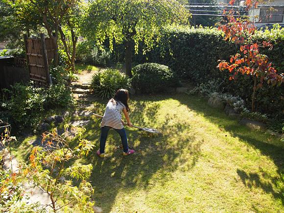 秋の庭仕事 3
