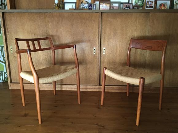 ダイニングの椅子たち