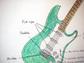 green guitar
